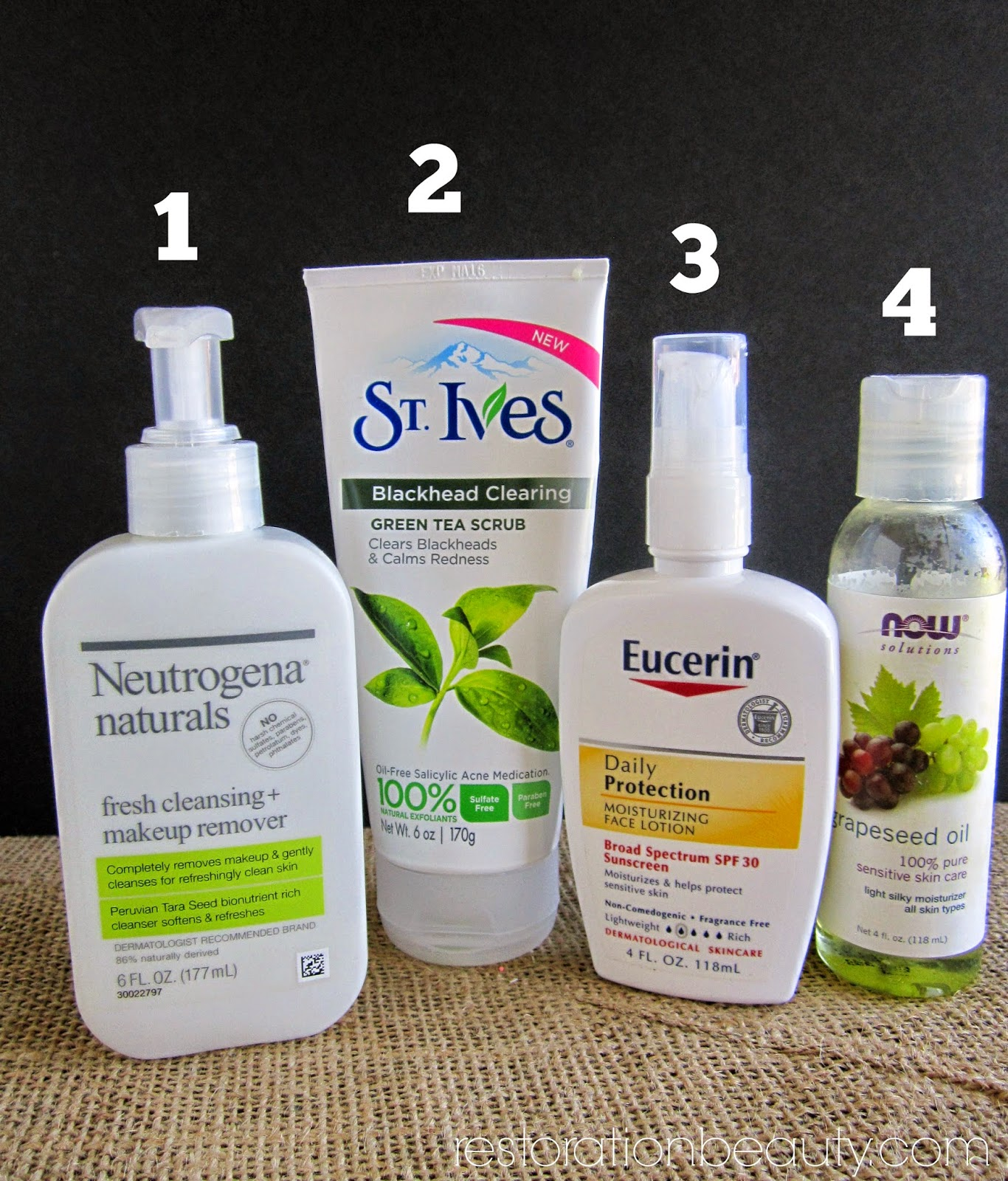 Facial products for clearing skin