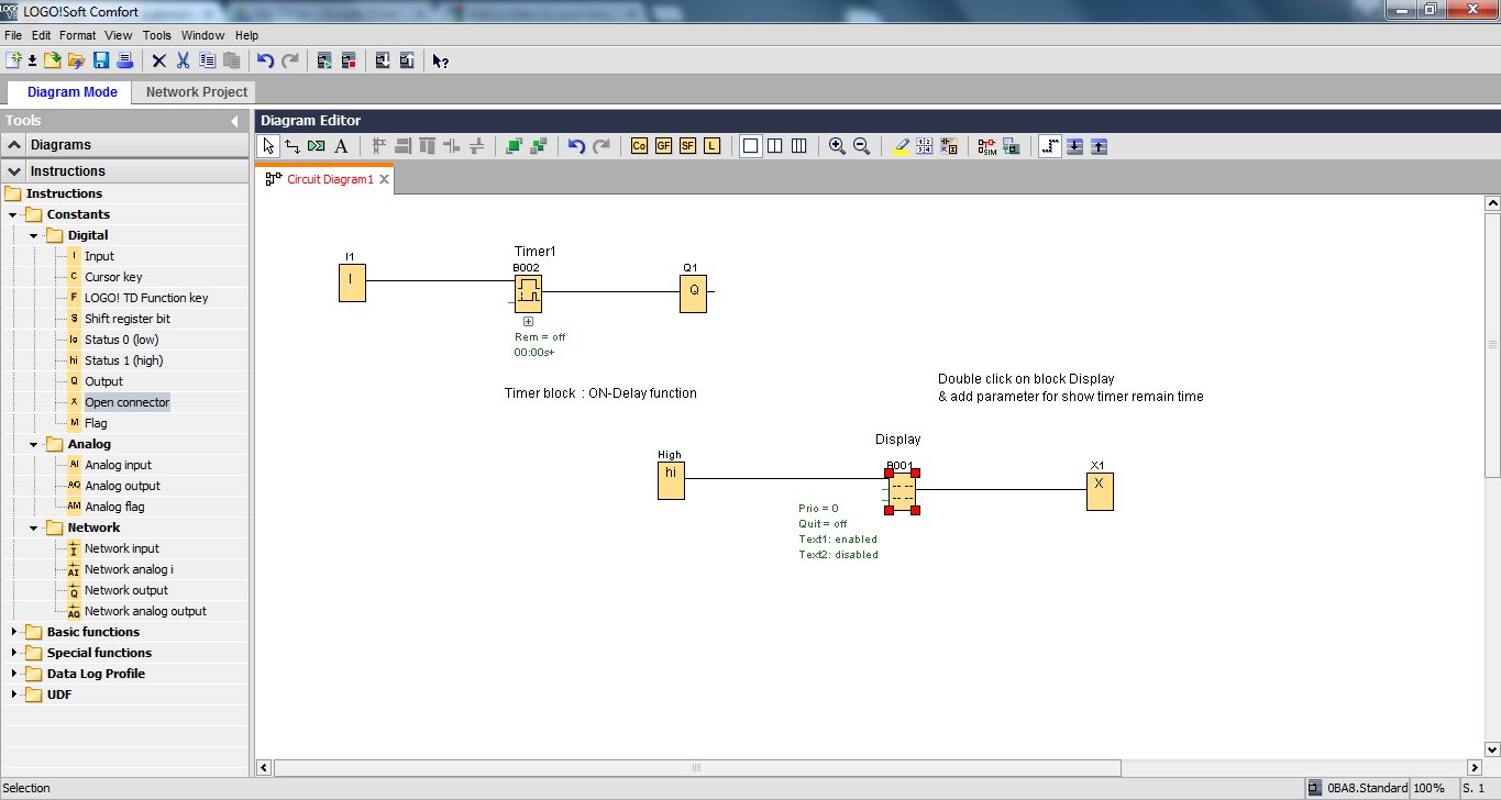 Principle Of Programming With Siemens Logo 8 2 Aiot Example Function Block Network Diagrams Double Click On Display B001