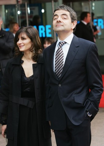Mr.Bean with his wife SUNETRA SASTRY