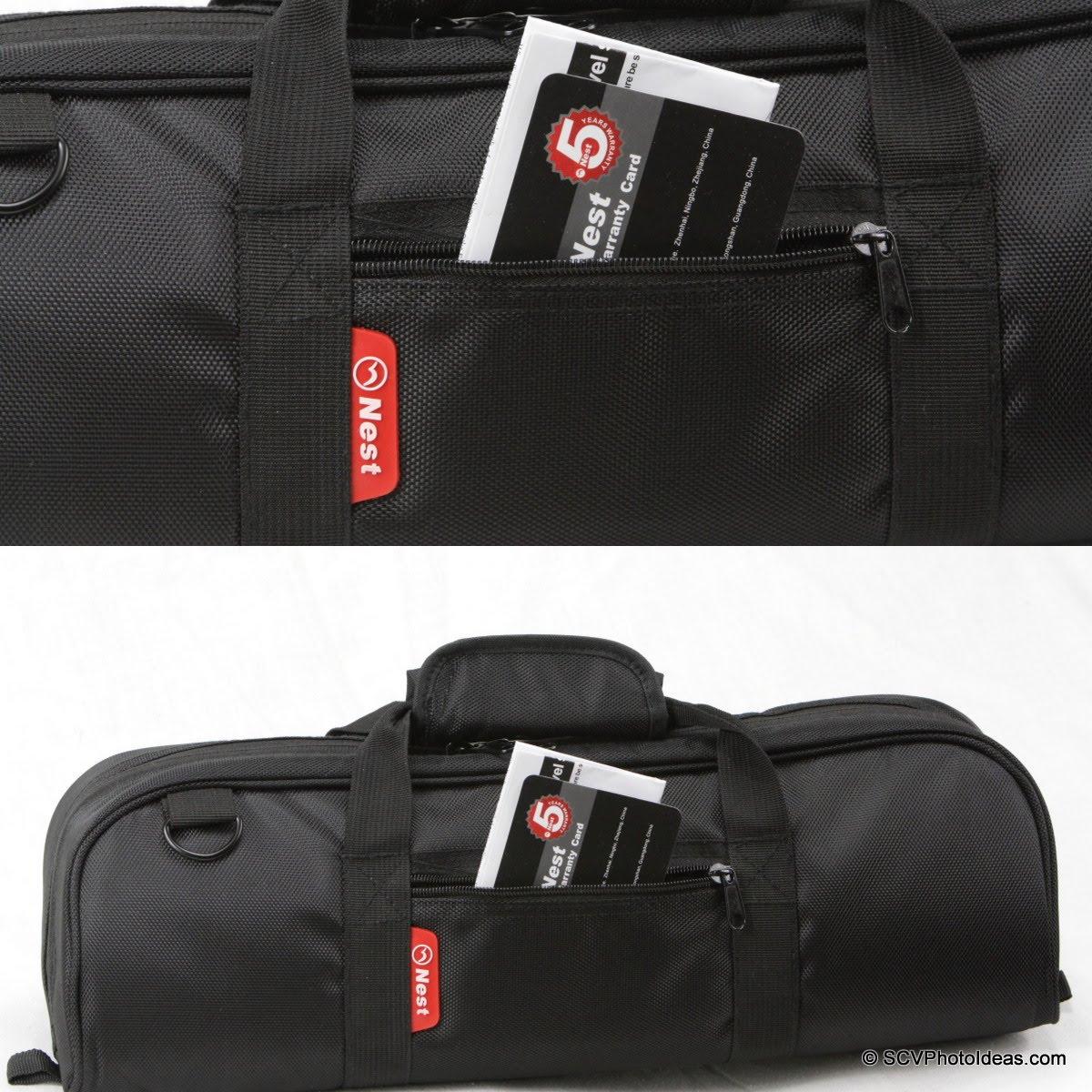 Nest NT-6294CT carrying case external pocket detail