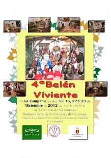 Cartel del Belén Viviente en La Campaana 2012