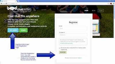 Register for Chatwing