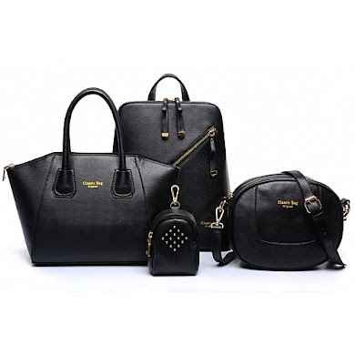 AA FASHION BAG (4 IN 1 SET) - BLACK