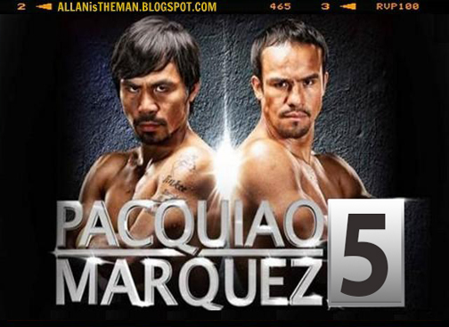 "5th Manny ""Pacman"" Pacquiao-Juan Manuel Marquez fight"