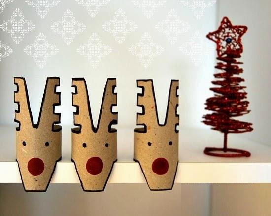 Decoracion de Navidad con Carton Reciclado