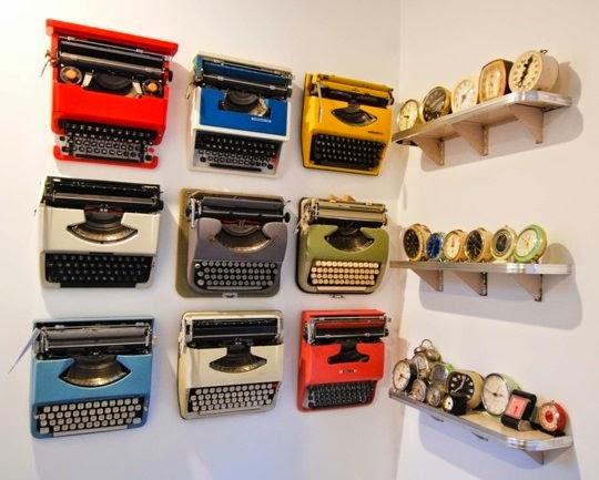 Máquinas de Escribir en pared