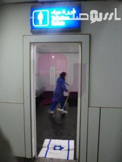 علم الكيان الاسرائيلي على مدخل مرحاض بالمطار التونسي