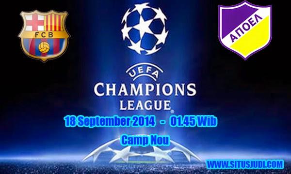 Berita Olahraga : Ulasan Pertandingan Pembuka Grup F Liga Champions 2014/2015 Antara FC Barcelona Dengan APOEL