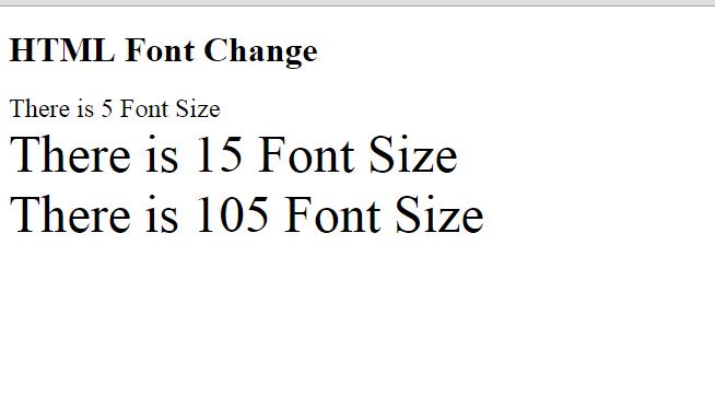 Html font Size