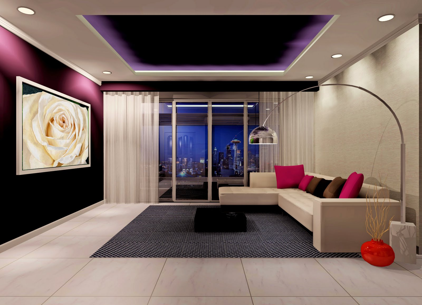 T g design 3d proposal for Living room 3d view