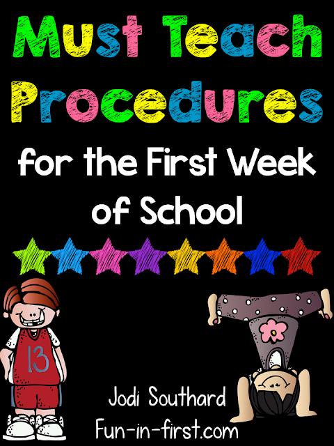 https://www.teacherspayteachers.com/Product/Procedures-to-Teach-on-the-First-Day-of-School-Freebie-1350637