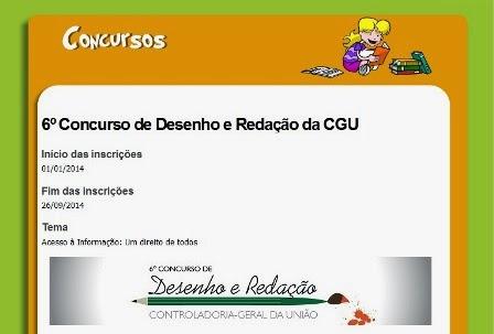 6º CONCURSO DE DESENHO E REDAÇÃO  DA CGU