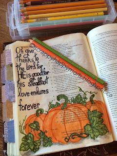 1Chronicles Bible Journal Page by Lynn Shokoples