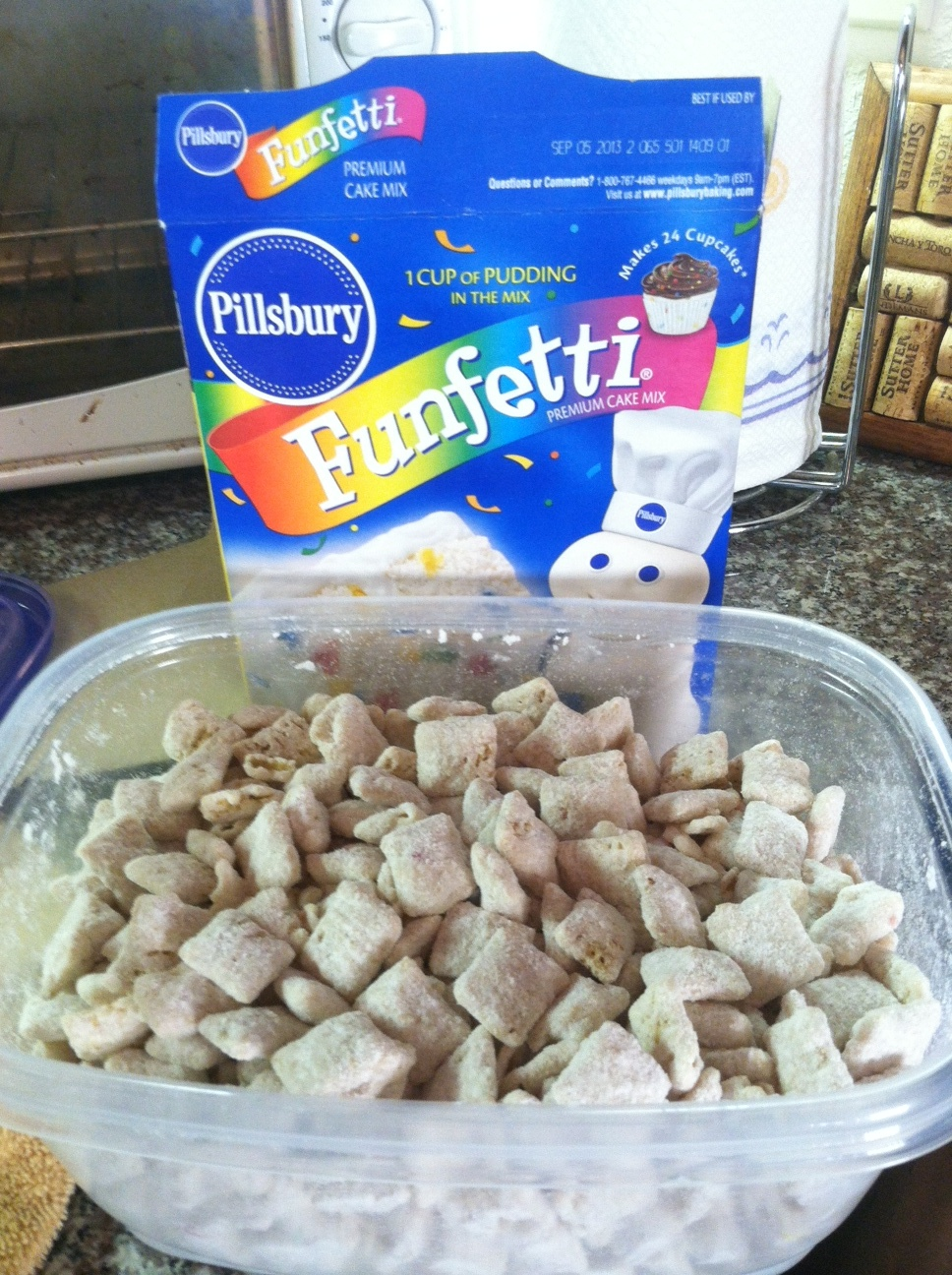 Funfetti Cake Mix Puppy Chow Recipe