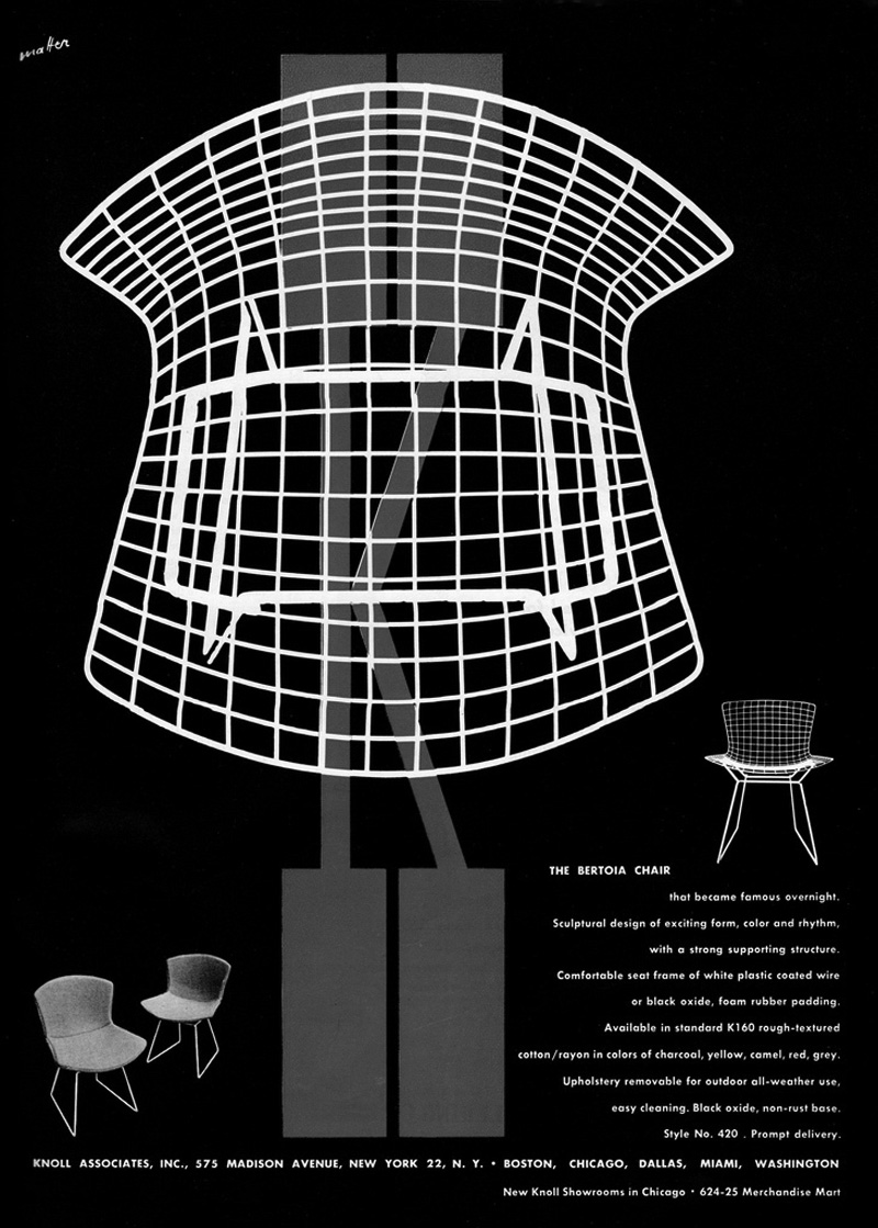 Bertoia side chair white - Harry Bertoia Side Chair At Paley Park