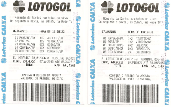 LOTOGOL 662 - QUADRA E TERNO