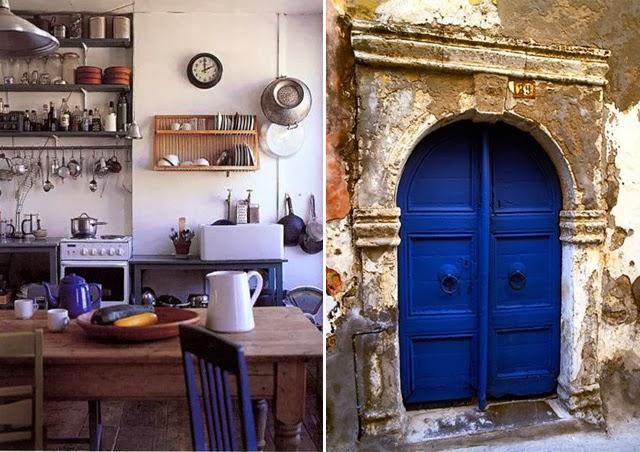 Chaises peintes bleues / Déco tendance lovers of mint