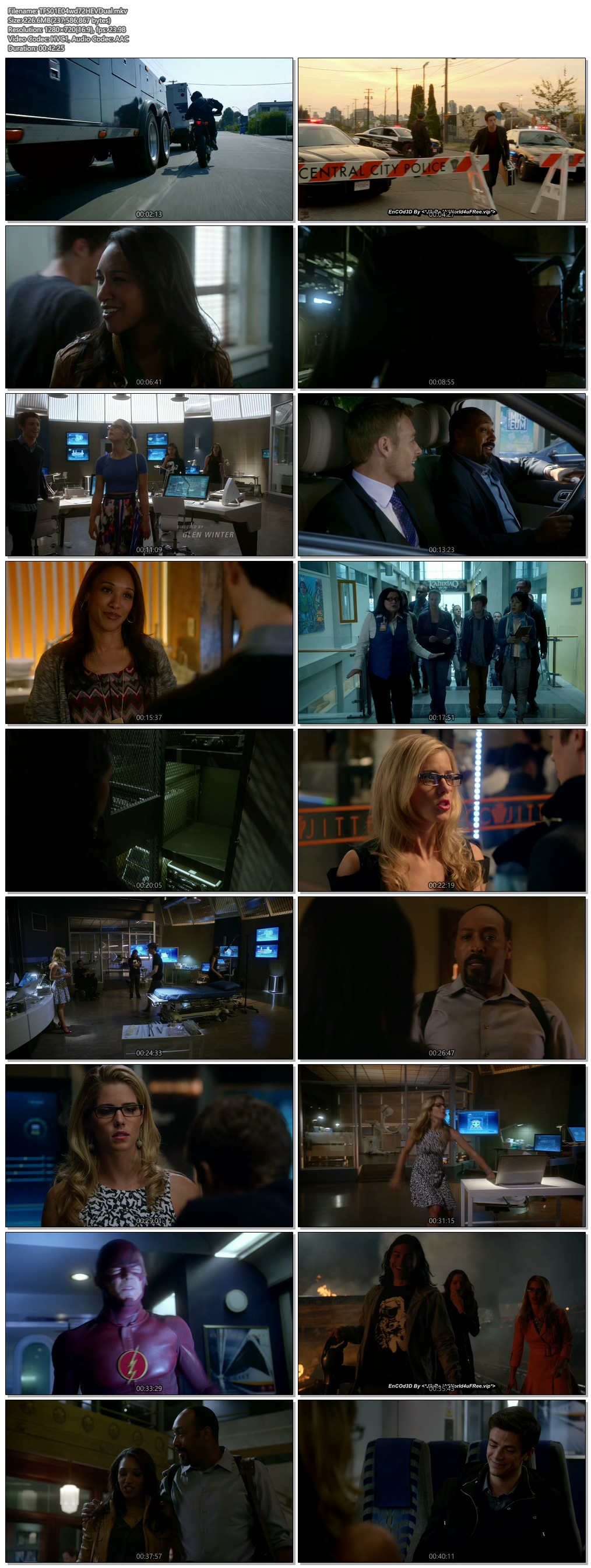 Screenshots Of Hindi Dubbed Show The Flash 2015 Season 01 Episode 04 300MB 720P HD