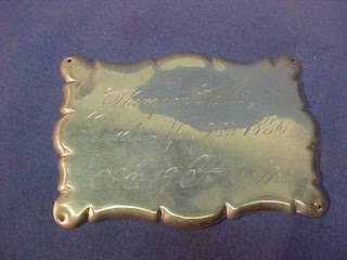 Thompson Tyler Coffin Plate 1856