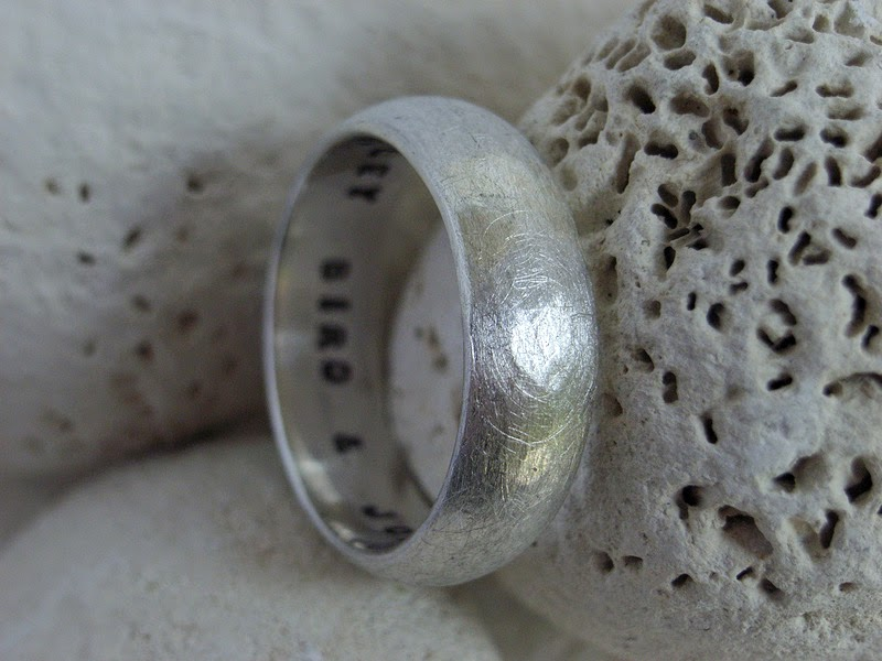 eco-friendly stamped wedding ring