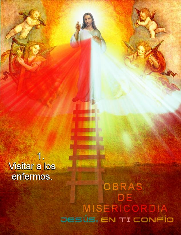 obra de misericordia ir a ver a los que estan muriendo en cama o enfermos para rezar por ellos la coronilla a las divina misericordia