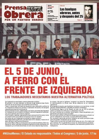 PRENSA OBRERA Nº 1365