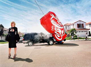 Huge Coca Cola Can HD Funny Ads HD Wallpaper