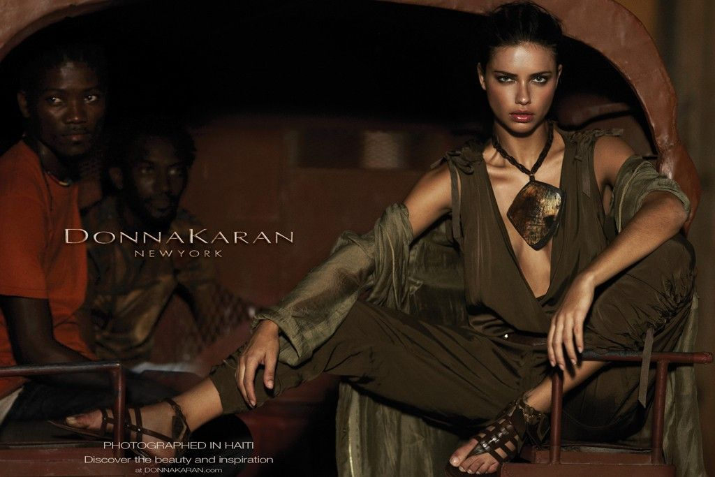 Adriana Lima Hairstyle on Donna Karan Spring 2012 Campaign 5