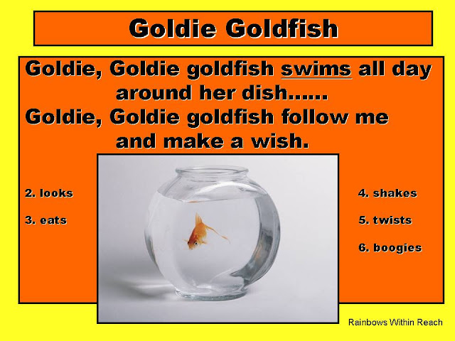 "photo of: ""Goldie Goldfish"" Debbie Clement's first dittie!!"