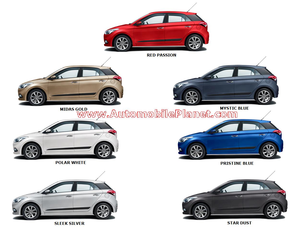 Hyundai Elite i20 colours - Automobile Planet