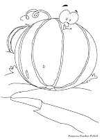 Gambar Buah Melon Untuk Diwarnai