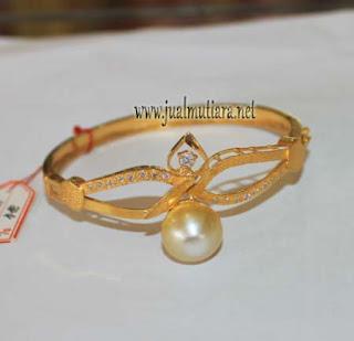 gelang emas mutiara air laut semping