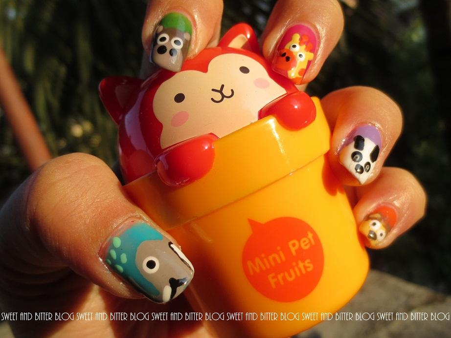 NAIL ART - Welcome to Zoo | Animals - Elephant, Monkey, Giraffe ...