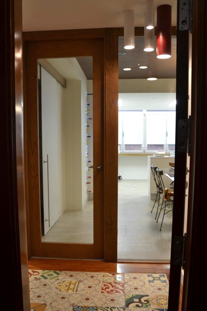 Mi kely puerta de cristal y roble - Puertas para comedor ...