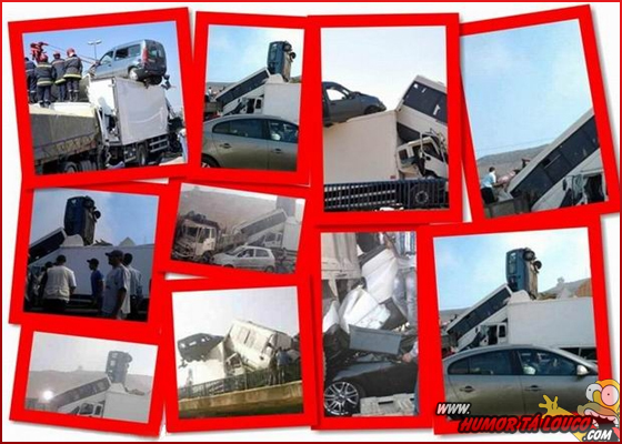Tente entender este acidente de trânsito - Acidente de carros e caminhões incrivel - Fotos e vídeos
