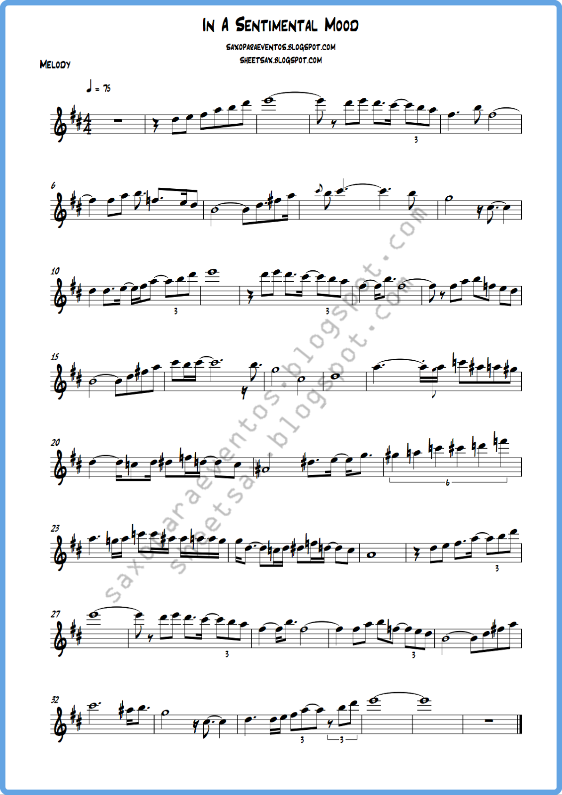 Sheet Music in b Flat Sheet Music of in a
