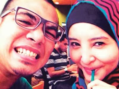 Sham Kamikaze bersama isteri barunya, Nurul Halimin.