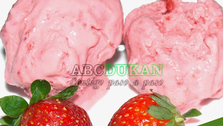 helado de fresas dukan