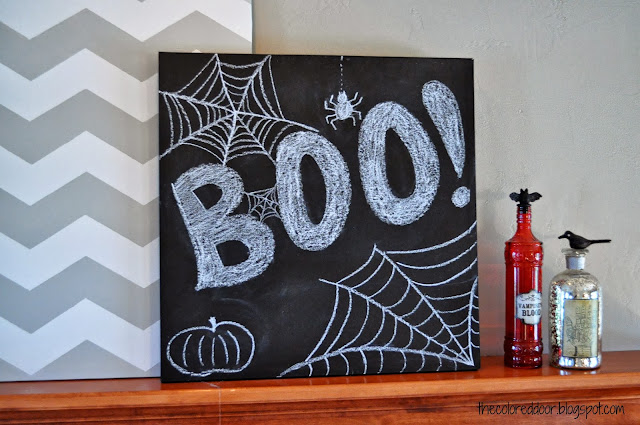 Halloween Mantle - the colored door