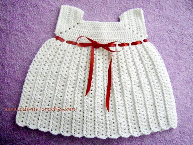 vestidos e sapatos em croche para bebê com edinir-croche