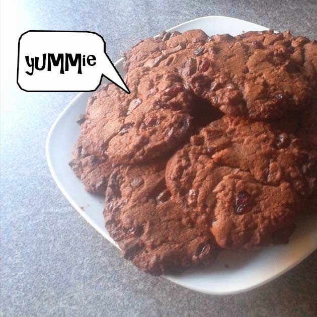 Rezept: Schokoladen-Cranberry Cookies