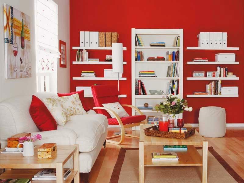 Muebles x muebles decorar la sala en color rojo for Colores para living comedor feng shui