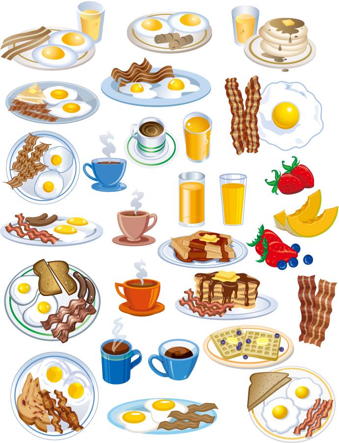 朝食と軽食のアイコン Lovely breakfast food icon イラスト素材1