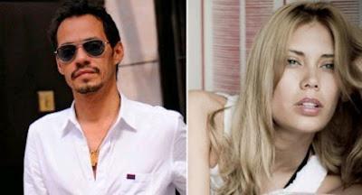 Besos Marc Anthony y Adriana Ontiveros