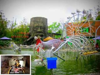 Eco Green Park, Destinasi Edukasi Seru di Kota Batu.  Kota Batu memang terkenal sebagai salah satu kota dengan pertumbuhaan pariwisata yang sangat cepat. Mulai dari wisata alam, adventure, hingga wisata edukasi. Dan salah satu wisata yang mengabungkan antara wisata alam, adventure, dan juga wisata alam adalah Eco Green Park, sebuah wisata alam edukasi yang terletak dalam lawasan Jawa Timur Park II.  Destinasi yang berada bersebelahan dengan Batu Secret Zoo ini menawarkan sekitar 25 wahana edukasi. Dan diantara beberapa wahana-wahana seru Di Eco Green Park ini adalah kompleks yang berisi miniatur candi-candi yang terkenal di seluruh Jawa, Ruang Insectarium, Parrot Dunia, Jungle Adventure, Dome Multimedia, Duck Kingdom, Water Track, Eco Journey, Plaza Music, Rumah Terbalik, dan masih banyak lagi wahana seru lainnya.   Wahana Seru Di Eco Green Park.   *) Bambu Plaza.   Photo Bambu Plaza, taken from liburananak.com  Dalam Bambu Plaza terdapat koleksi berbagai jenis kupu-kupu serta serangga baik yang masih hidup hingga yang telah mati dan telah diawetkan. Dan salah satu koleksi yang ditampilkan adalah belalang anggrek yang disusun hingga berbentuk dan warnanya menyerupai anggrek. Ada pula kumbang yang telah diawetkan dan dibentuk menyerupai kumbang raksasa.    Susunan Kupu-kupu dan kumbang, Taken from liburananak.com Selain kupu-kupu di Bambu Plaza disini juga ada kalajengking yang jinak yang menurut petugasnya telah diambil racunnya sehingga kita dapat memegang tanpa perlu takut disengat namun tetap harus dibawah pengawasan petugas.   *) Rumah Terbalik.   Photo Rumah Terbalik, Taken from liburananak.com  Beragam kesan menyenangkan yang akan terasa saat anda berada di tempat rekreasi ini. Seperti keberadaan wahana Rumah Terbalik, konsep wahana ini sangatlah unik, sebab dalam wahana ini terdapat sebuah rumah dengan semua isinya dalam kondisi terbalik, mulai dari bangunan hingga berbagai perabot yang ada di dalamnya.   *) Dome Multimedia.   Dome Multimedia, Eco Journey, Fo