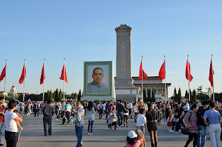 Sun Yat-sen portrait in Tian'anmen Square on National Day 2012