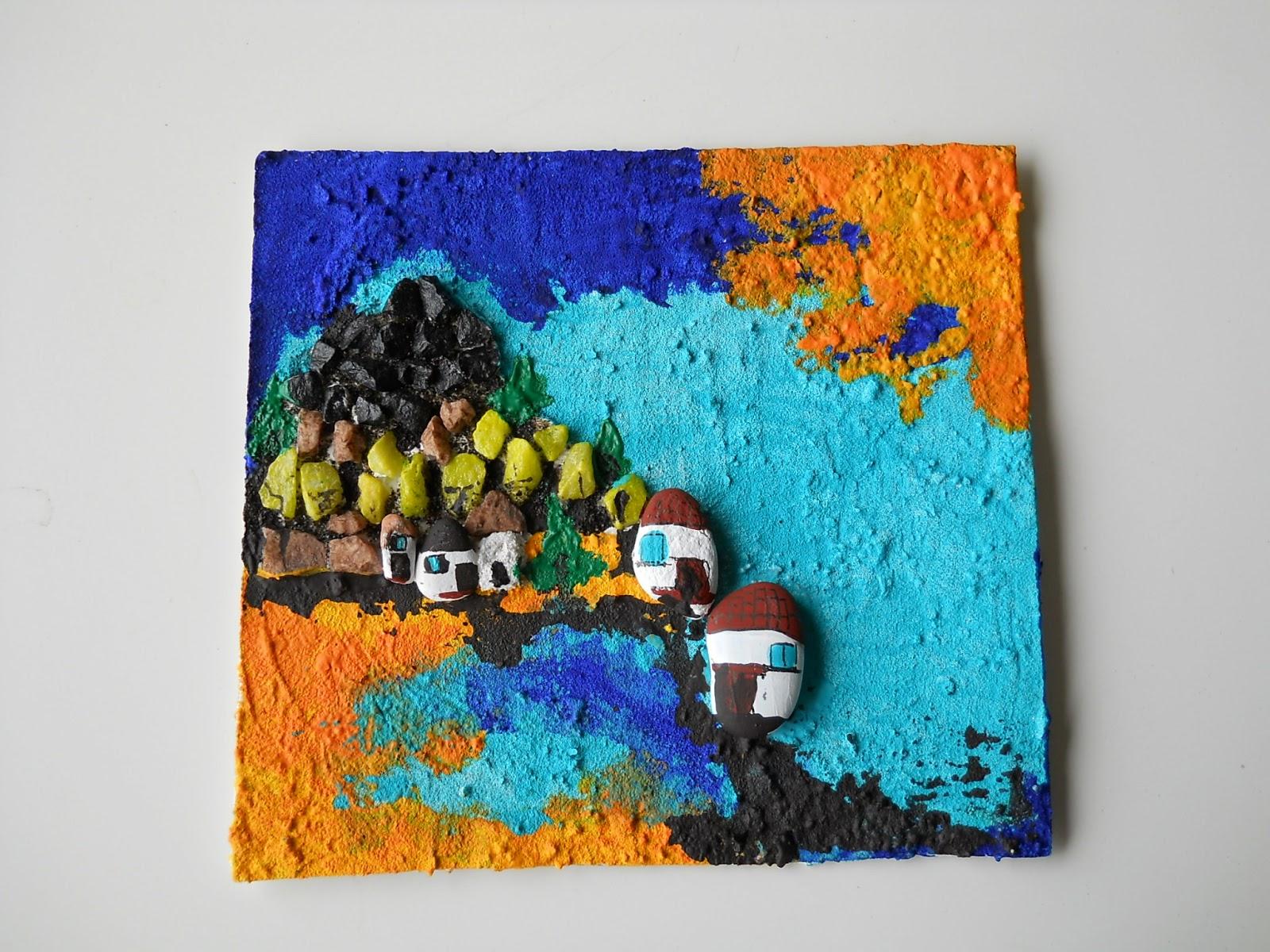 Ceramiche e dintorni pittura materica paesaggio