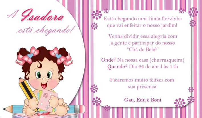 Lilian Delfino Convite Chá De Bebê