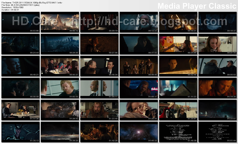 Thor 2011 video thumbnails