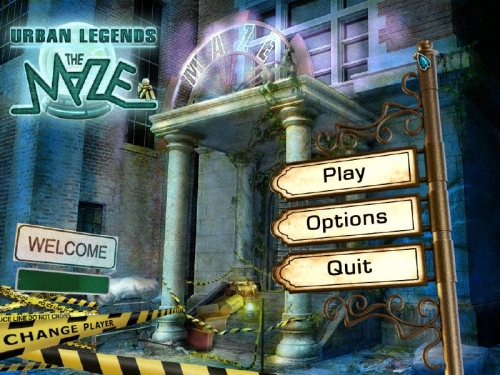 Urban Legends: The Maze Main Menu